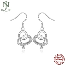 INALIS Vintage Note Shaped Earrings Silver Color Earrings For Women Fashion Jewelry Hot Selling Vale