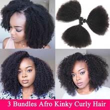 Mongoolse Afro Kinky Krullend Haar Bundels 3 Bundels Deal 8-22 inches Menselijk Haar Bundels Niet Remy Schoonheid Lueen hair Extensions