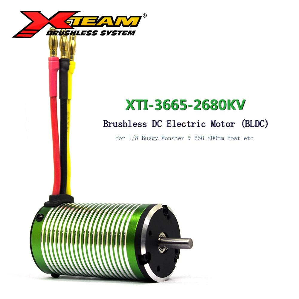 X-TEAM motor sem escova 3665 2680kv bldc motor eletromotor para 1/8 carro rc buggymonster 650-800mm rc barco substituição peça de reposição