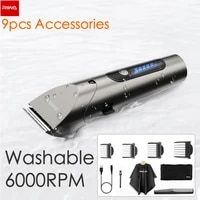 riwa barber hair clipper led screen washable electric hair trimmer rechargeable professional hair machine trimmer for men