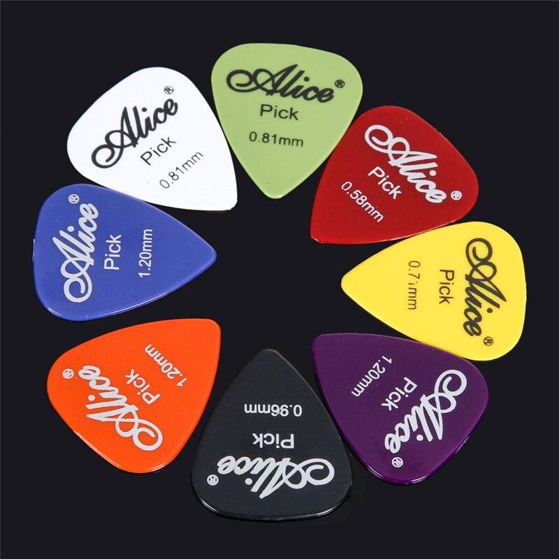 20/30/40/50 stücke Gitarre Picks 1 Box Fall Alice Akustische Elektrische Bass Plektrum Vermittler Musical Instrument Dicke mix 0,58-1,5