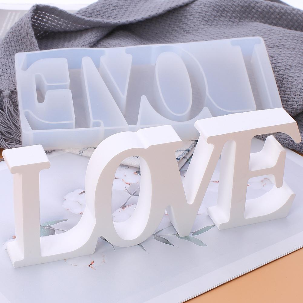 Diy molde de silicone amor coração forma cristal 3d molde artesanal pingente sobremesas artesanato bolo chocolate fazendo ferramentas diy