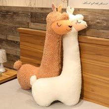 1m/1.3m New Arrivel Alpaca Plush Pillows Soft Gaint Stuffed Alpaca Toys For Children Kawaii Toys For Girls Birthdat Gifts Doll