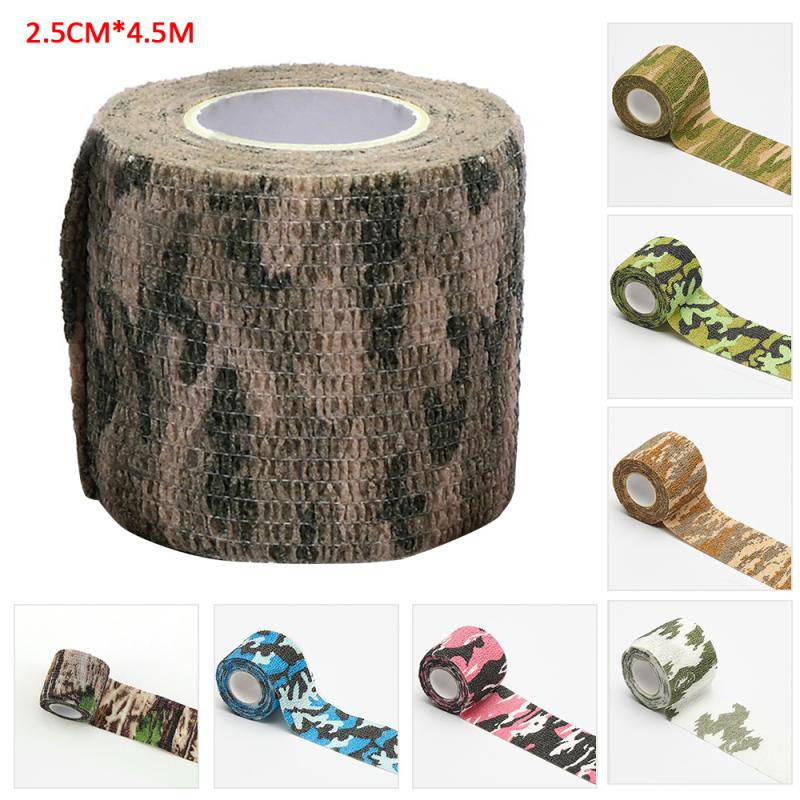 2.5cm*4.5m Self Adhesive Elastic Bandage Colorful Sport Tape Elastoplast Emergency Muscle Tape First Aid Tool Knee Support Pads