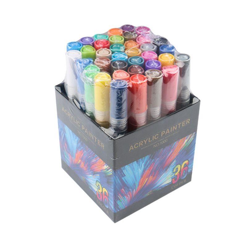 4/8/12/15/24/36 Colors Acrylic Paint Marker Pen Detailed Marking for DIY Album