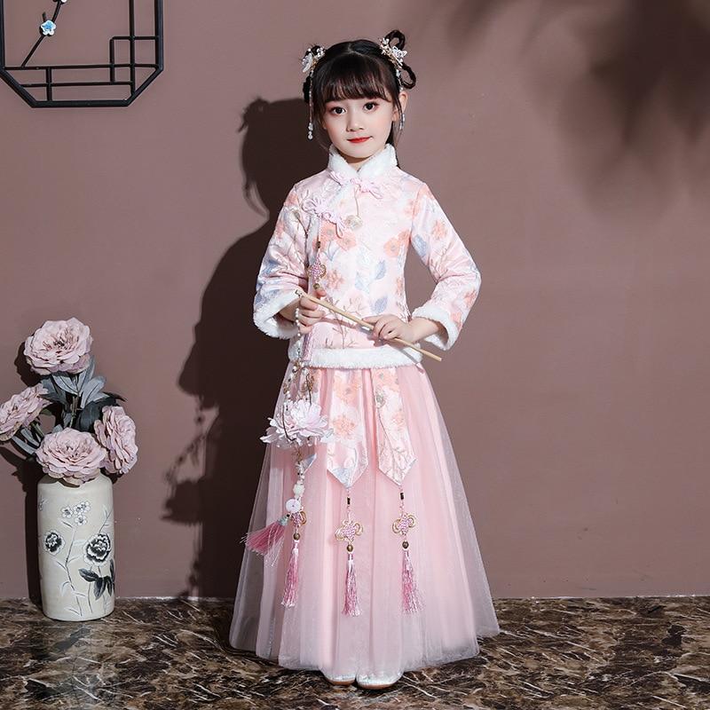 زي رقص صيني تقليدي ، فستان هانفو ، للأطفال ، من سلالة هان هان مينج تانغ