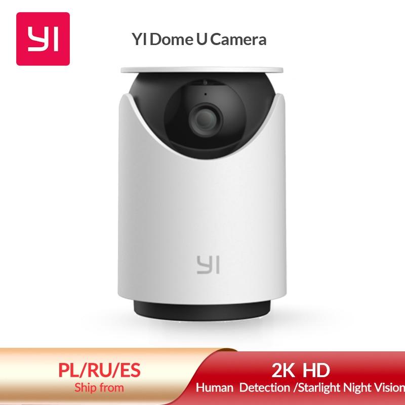 YI Dome U Security 2K Indoor Cam Pan & Tilt IP Camera with Wi-Fi Human & Pet AI Video Surveillance Voice Assistant Compatibility