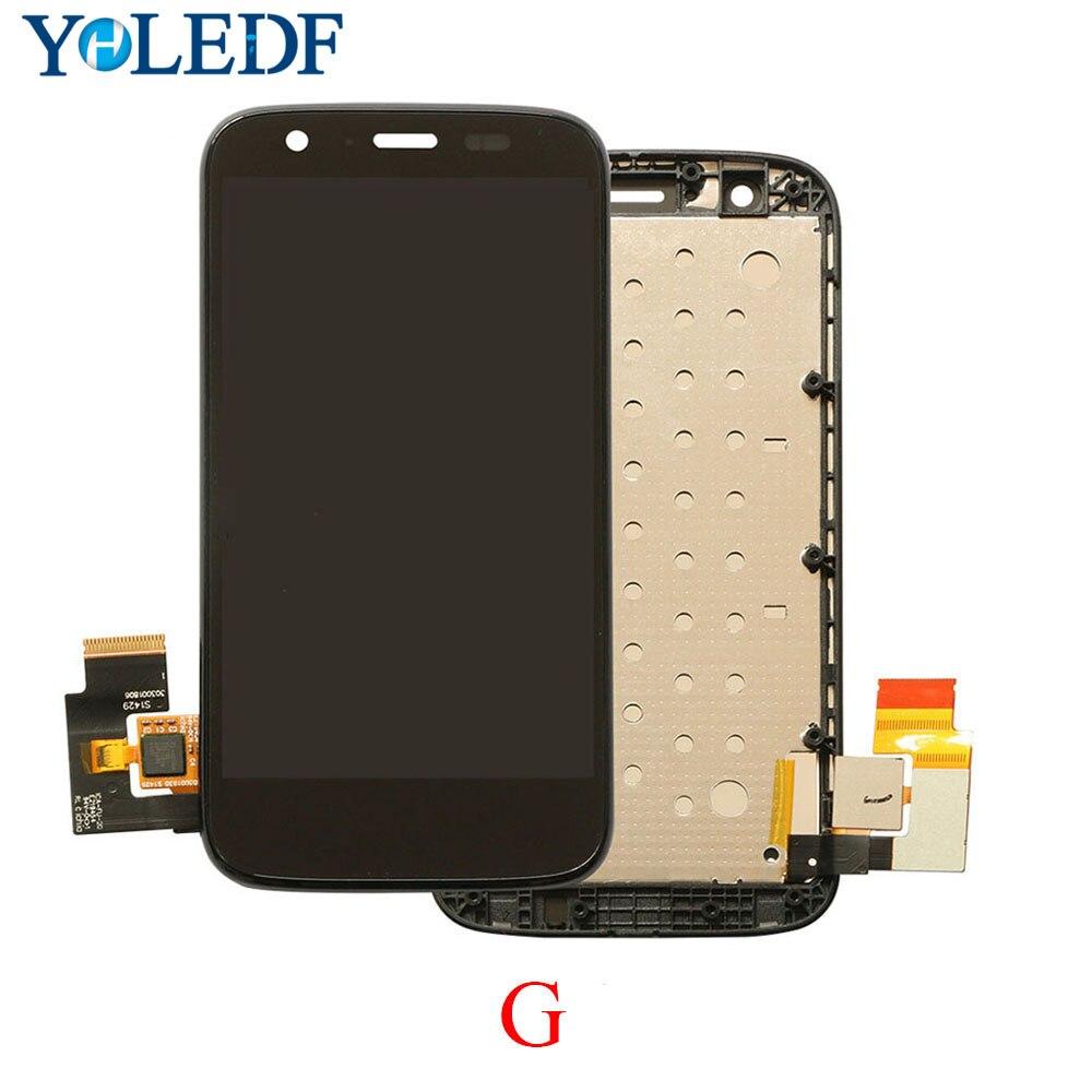 LCD para Motorola MOTO G XT1032 XT1033 pantalla LCD Panel táctil Tela digitalizador con marco de bisel montaje completo reemplazar piezas