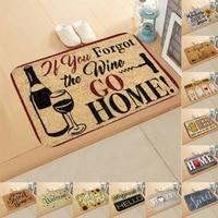 Paillasson de bienvenue dentree 40x60cm  tapis de sol absorbant pour salle de bains  cuisine  doux pour la maison  lettres  tapis antiderapant pour salon