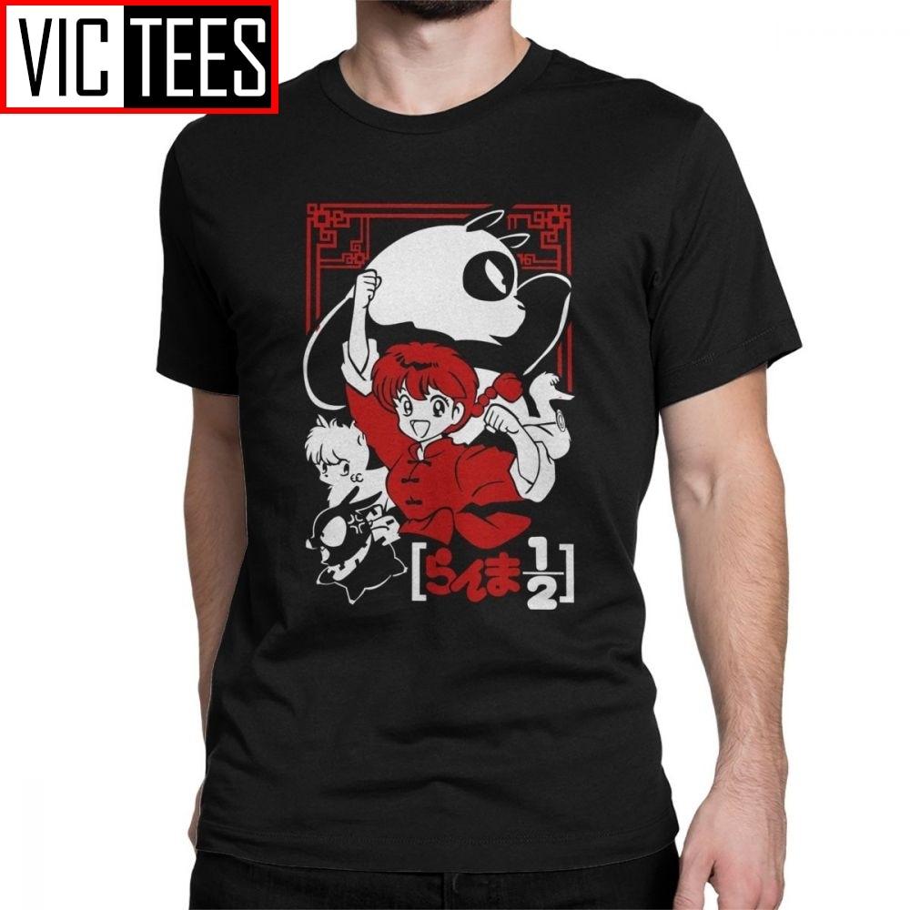 Camiseta de Ranma 12 para hombre, Camiseta de Manga Anime, Camiseta de algodón