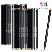 Ensemble de 24 stylos de couleur, stylos de dessin décriture de croquis de couleur Fine pour la prise de notes et la coloration de planificateur de Journal