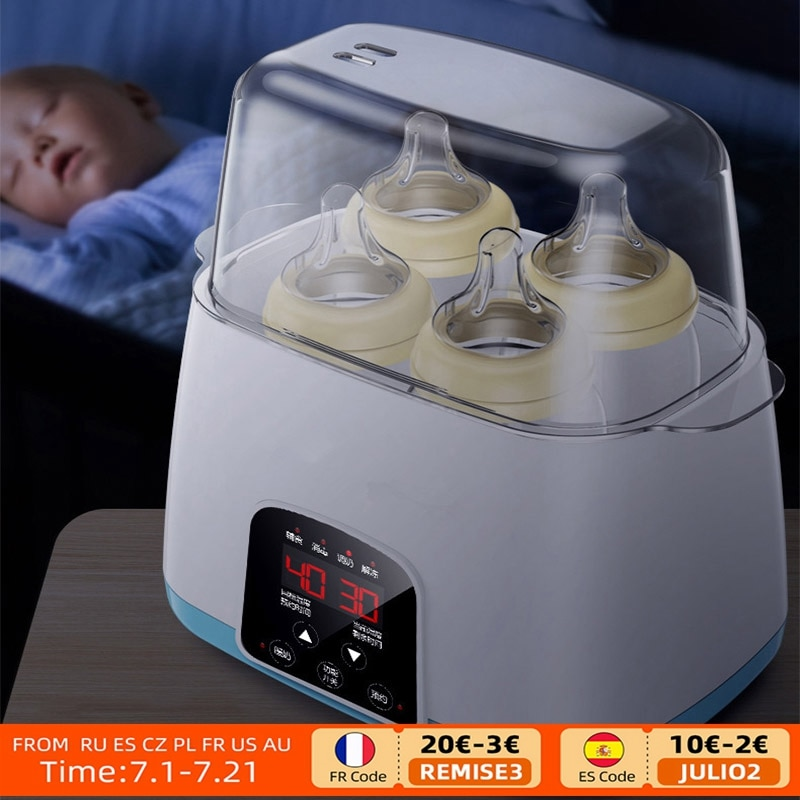 Multi-function 6 in 1 Automatic Intelligent Thermostat Baby Bottle Warmers Milk Bottle Disinfection Fast Warm Milk & Sterilizers multi function baby anti slip bottle brusshes safe disinfection bottle pliers anti scalding bottle clips pp bottle holder