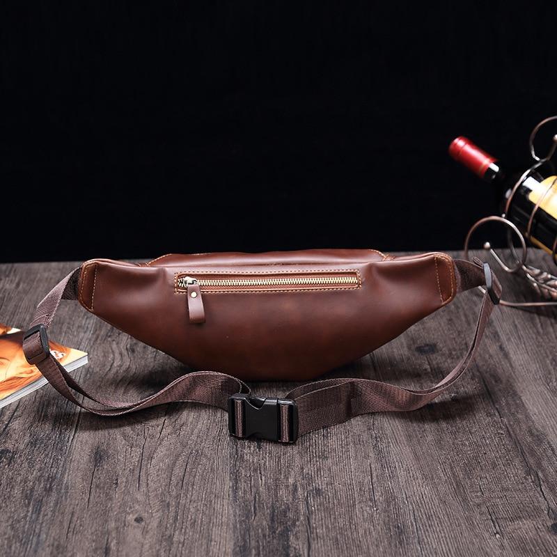 الرجال جيب الموضة والجلود الناعمة بو حقيبة ساعي الرجعية حقيبة الهاتف المحمول