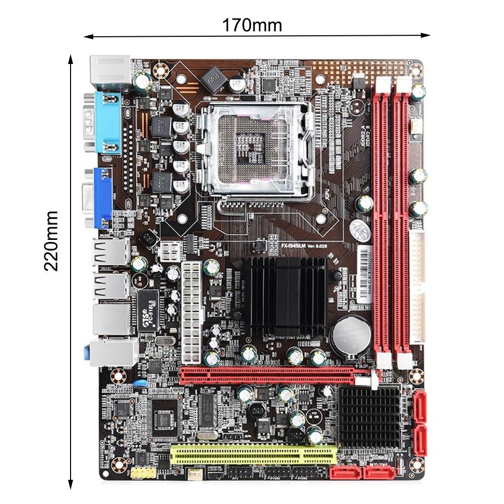 945 سطح المكتب اللوحة M-ATX USB2.0 SATA2.0 DDR3 ثنائي القناة 4G Mermory ل LGA 771/775Mzh
