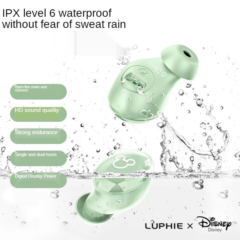 Disney wireless earphones for Huawei/Iphone/OPPO/Xiaomi/TWS/music Bluetooth 5.0 earphones with microphone enlarge