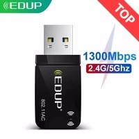 EDUP 1300Mbps Mini USB3 0 Wifi Adapter Wifi Network Card Dual Band 5 8G 2 4GHz Wireless AC USB Adapter for PC Desktop Laptop