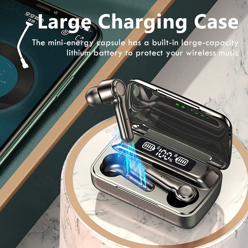 Bluetooth Wireless Headphones with 2200mAh Charging Case IPX5 Waterproof Sports TWS Bluetooth Earphones Touch Control Headsets enlarge
