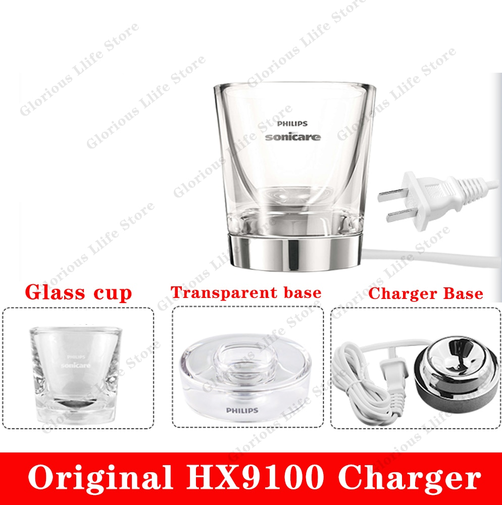 HX9100 الزجاج كوب ل شاحن HX9100 فيليبس Sonicare DiamondClean فرشاة الأسنان HX9340 HX9342 HX9313 HX9333 HX9362 HX9382 HX9350