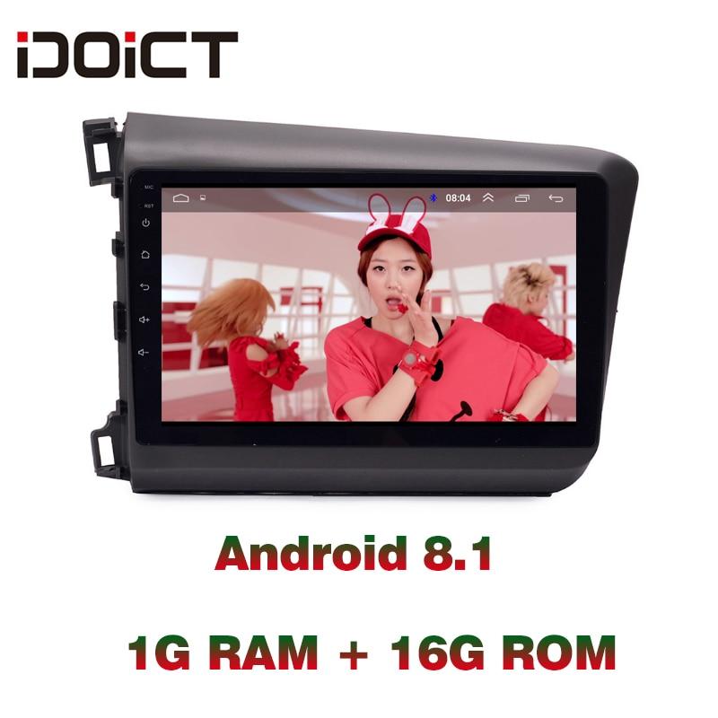 IDOICT Android 8,1 dvd-плеер для автомобиля gps навигация Мультимедиа для Honda Civic радио 2012-2015 стерео