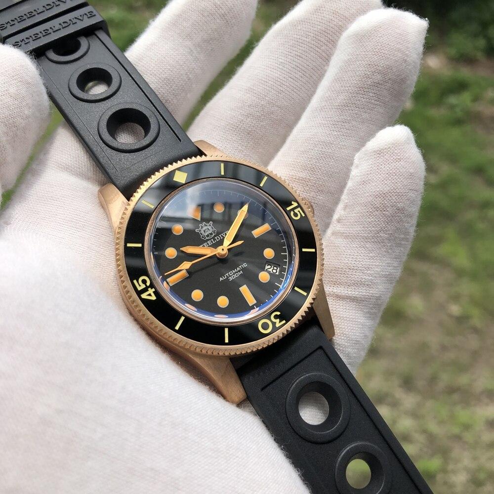 ساعة غوص برونز 41 مللي متر إصدار محدود من steelالغوص 300 متر C3 ساعة معصم ميكانيكية برونزية فائقة مضيئة CuSn8 للرجال