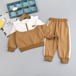 Active Kids Clothes Boys Sets Long Sleeve Hooded Toddler Girl Clothes Tops+Pants Spring Autumn Children Clothing 1-4 Years