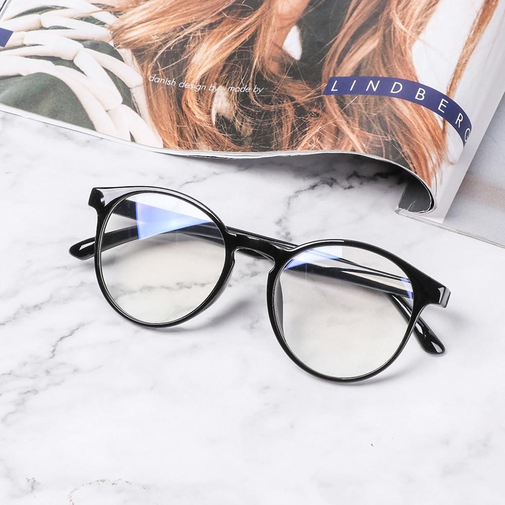 1PC Presbyopic Eyeglasses Anti Blue Rays Vintage Reading Glasses Men Women Round Blue Film Glasses Computer Goggles  1.0~ 4.0