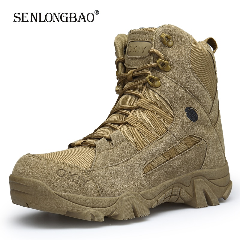 New Autumn Winter Military Boots Outdoor Male Hiking Boots Men Special Force Desert Tactical Combat Ankle Boots Men Work Boots