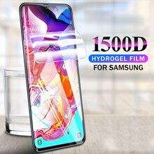 1500D Volle Abdeckung Hydrogel Film Screen Protector auf für Samsung Galaxy A70 A50 A30 A10 A20 Schutzhülle M10 M20 M30 nicht glas