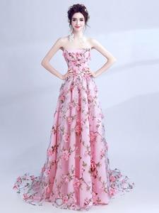 Evening Dress Party Dress Formal Evening Dress Flowers Party Dresses