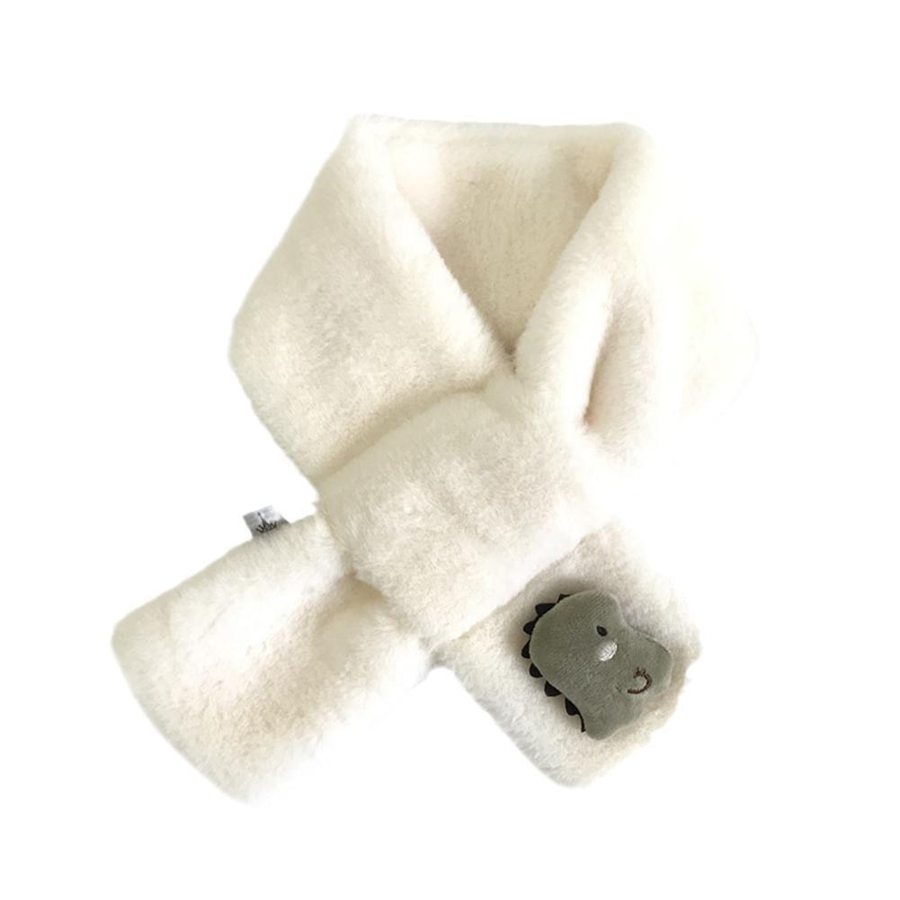 Winter Warm Children's Scarf Fashion Cute Imitation Rabbit Fur Cross Scarf Cartoon Boys And Girls Plush Scarf