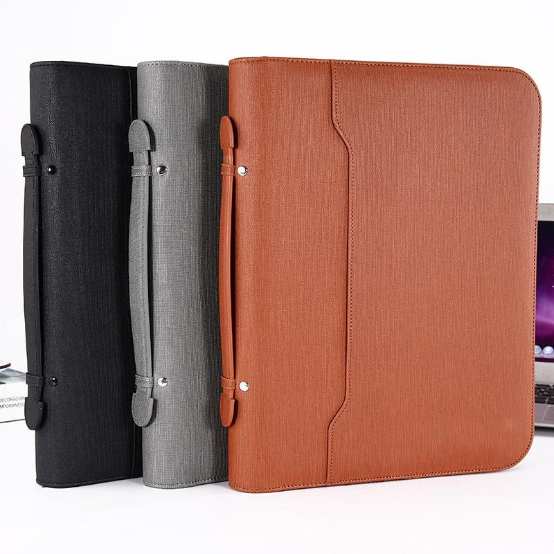 A4 folder, luxury folder, filing cabinet, document manager, support, management ring, zipper briefcase, business supplies