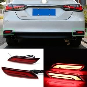 Car LED Rear Bumper Reflector Fog Brake Light for Toyota Camry 2018