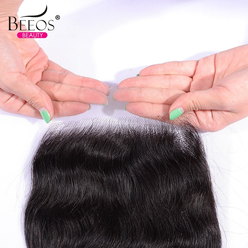 Invisible HD Lace Closure 5x5 With Baby Hair Frontal Transparent Natural Straight Remy Human