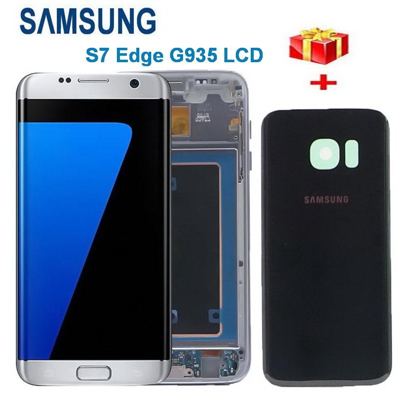 original 55 lcd para samsung galaxy s7 edge display g935 g935f sm g935fd display