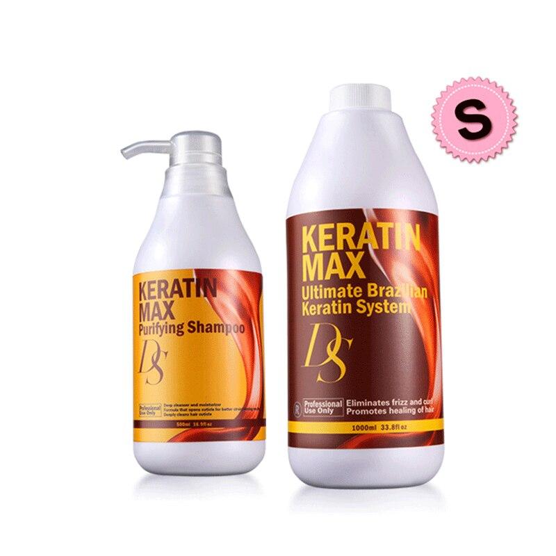 1000ml ברזילאי קראטין טיפול 8% פורמלין ליישר עבור מתולתל שיער & טיהור שמפו סט שיער מוצרי טיפוח משלוח חינם