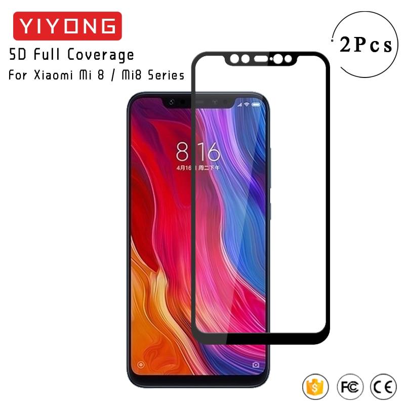 Cristal de cubierta completa YIYONG 5D para Xiaomi Mi 8 SE Lite Pro, cristal templado Xiomi Mi8 Lite, Protector de pantalla para Xiaomi Mi8 Pro SE