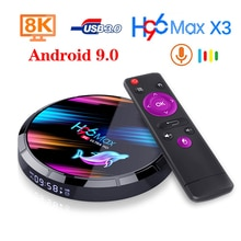 LEMDIOE 2020 H96 MAX X3 Dispositivo de TV inteligente Android 9,0 Set top box 8K 4GB 128GB 32GB 64GB S905X3 Netflix, Youtube H96MAX