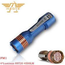 Meote FM1 4 * Luminus SST20 4500lm 188M Blf Anduril Ui 18650 Krachtige Led Zaklamp Lantaarn Voor Zelfverdediging camping Edc