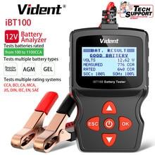 Vident iBT100 12V Battery Analyzer for Flooded AGM GEL 100-1100CCA Automotive Tester Diagnostic Tool