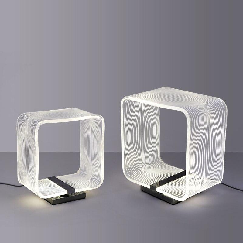 الحديثة مصباح ليد لوحة دليلية مصابيح طاولة غرفة نوم السرير مكتب أضواء غرفة المعيشة دراسة الشمال المنزل تركيبات إضاءة ديكورية