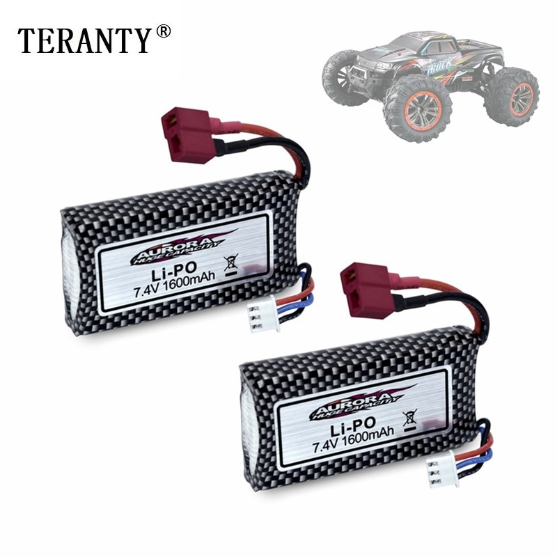 1-5Pcs Original 7.4v Battery For 9125 Remote Control Rc Car Spare Parts 7.4v 1600mah Lipo Battery XL