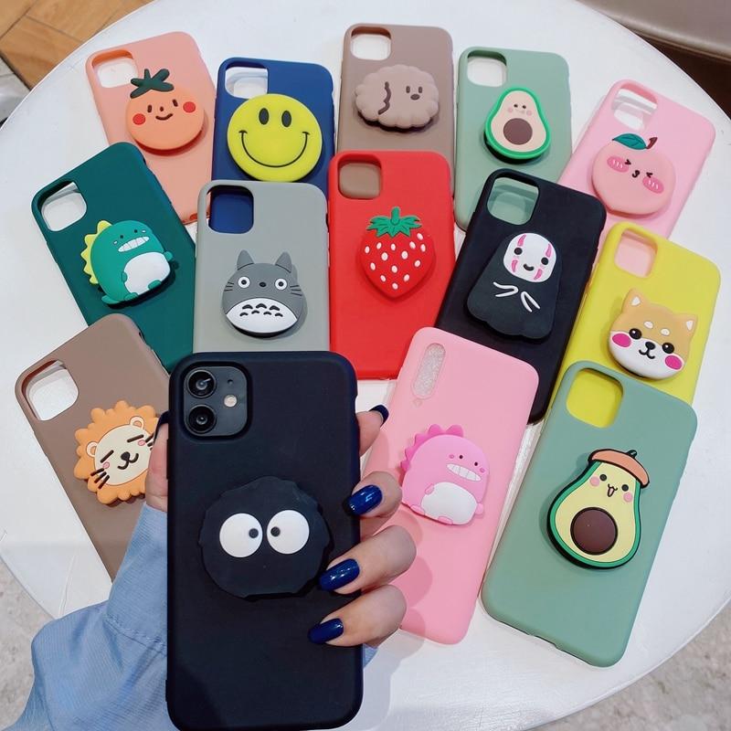 3D Cartoon Soft Silicone Phone Case for Xiaomi Mi CC9 Pro CC9E A2 A3 Lite 6X Pocophone F1 Holder Cov