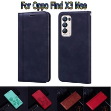 Flip Cover For Oppo Find X3 Neo Case Wallet Leather Book Funda On For Find X3 Neo Case Stand Phone P