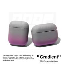 Étui dégradé de protection pour PC dur pour Airpods 1/2 pro dégradé accessoires gadget amusants mignons (gris)