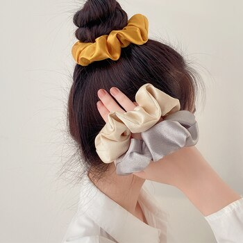 Internet Celebrity Same Style Pork Intestine Hair Band Retro French Hair Band Girl Ins Style Ponytail Cute Simple Temperament