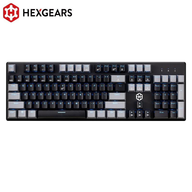 Hexgear-لوحة مفاتيح ألعاب ميكانيكية ، GK706 ، Kailh MX ، مفتاح 104 ، مقاوم للماء ، وردي ، لسطح المكتب