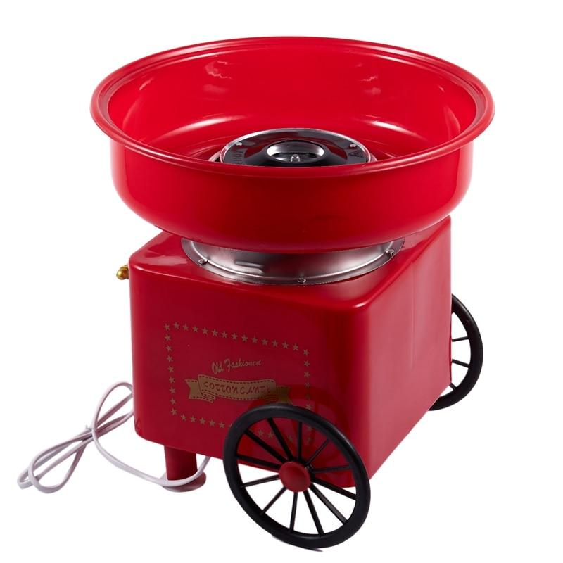 Hogar Mini Diy máquina de dulces de algodón eléctrico Retro máquina de azúcar carrito de algodón de caramelo máquina comercial de hilo dental UE P