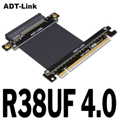 PCIe X16 ذكر إلى X8 أنثى فتحة موسع محول ل 1U الولايات المتحدة 2 NVMe SSD /PCIe X16 إلى X8 تمديد كابل