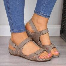 New Women Sandals Flat Open Toe Shoes Women Casual Platform Ladies Vintage Sandals Shoes for Women D