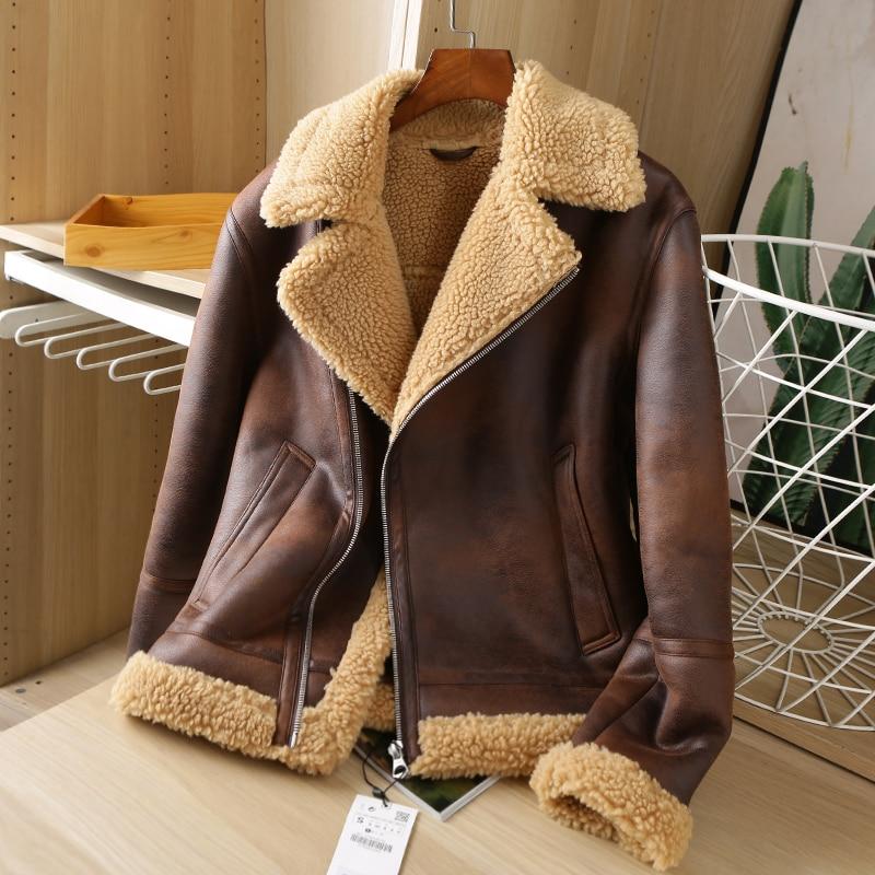 2020 men Autumn and winter The new Lamb jacket jacket leather The jacket coat